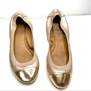 COACH rose gold Dalia ballet flat Q1779 Sz. 8.5